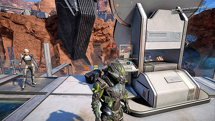 Use the communications array on the roof when you are ready for the big battle - Jaal Ama Darav: Friend or Foe? | Allies and Relationships - Allies and Relationships quests - Mass Effect: Andromeda Game Guide
