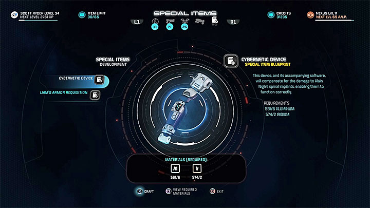To fulfil Alains wishes, youll need to return to one of the crafting tables, e - The Firefighters | Nexus side quests - Nexus - Mass Effect: Andromeda Game Guide