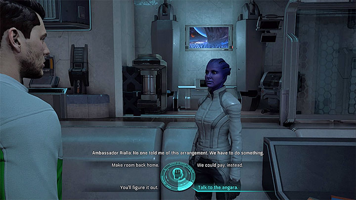 You must advise ambassador Rialla on what should she do - The Vesaal | Aya side quests - Aya - Mass Effect: Andromeda Game Guide