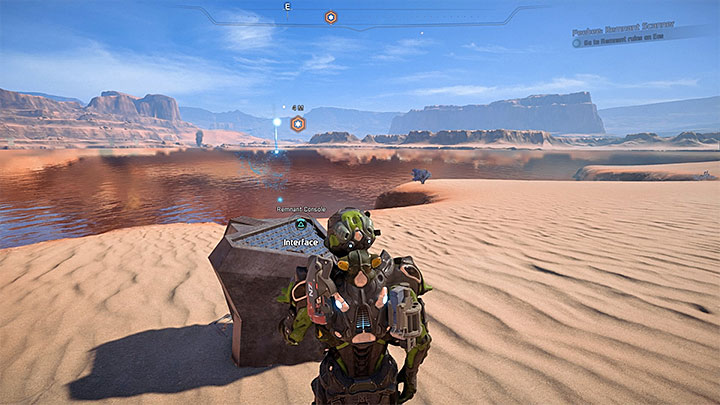 The Remnant Console is right next to the water reservoir - Peebee: Remnant Scanner | Allies and Relationships - Allies and Relationships quests - Mass Effect: Andromeda Game Guide