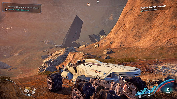 The site on Kadara - watch out for outlaws - Peebee: Remnant Scanner | Allies and Relationships - Allies and Relationships quests - Mass Effect: Andromeda Game Guide