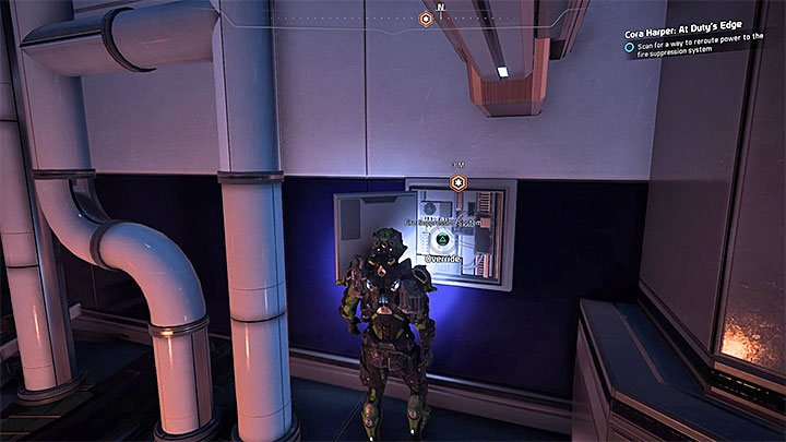 Proceed through the newly unlocked corridor - Cora Harper: At Dutys Edge (loyalty mission) | Allies and Relationships - Allies and Relationships quests - Mass Effect: Andromeda Game Guide
