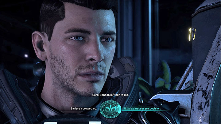 Decide whether Sarissa has made a good call - Cora Harper: At Dutys Edge (loyalty mission) | Allies and Relationships - Allies and Relationships quests - Mass Effect: Andromeda Game Guide