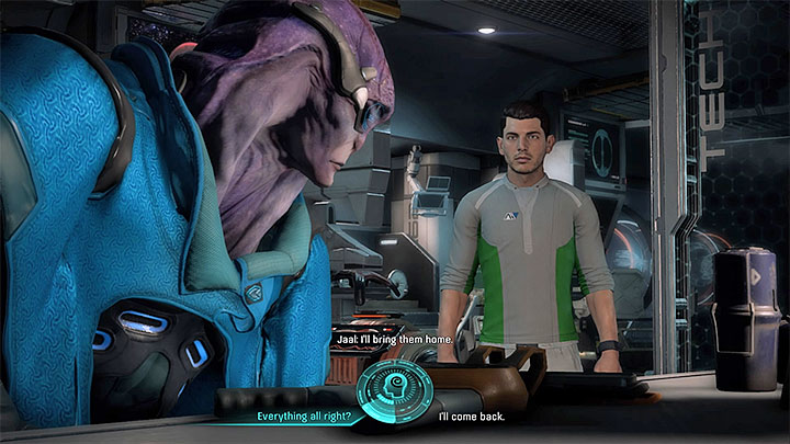 Talk with Jaal following an uneasy revelation - Jaal Ama Darav: Flesh and Blood (loyalty mission) | Allies and Relationships - Allies and Relationships quests - Mass Effect: Andromeda Game Guide