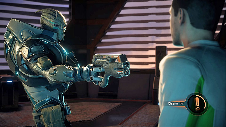You can use the opportunity to disarm one of the thugs - Hunting the Archon | Priority Ops - Priority Ops (Main quests) - Mass Effect: Andromeda Game Guide