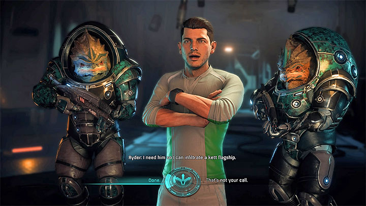 Consider allying with Sloane Kelly to get the location without having to worry about the prisoner - Hunting the Archon | Priority Ops - Priority Ops (Main quests) - Mass Effect: Andromeda Game Guide