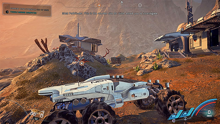 Proceed west from the slums and follow the marker to reach the location shown on the screenshot above, which is also located north from the first Initiative site on Kadara (a part of Colonization of Kadara - one of the side quests) - Hunting the Archon | Priority Ops - Priority Ops (Main quests) - Mass Effect: Andromeda Game Guide
