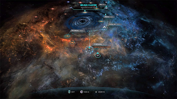 Faroang system is in the south part of Heleus Cluster - Helping Havarls Scientists | Priority Ops - Priority Ops (Main quests) - Mass Effect: Andromeda Game Guide