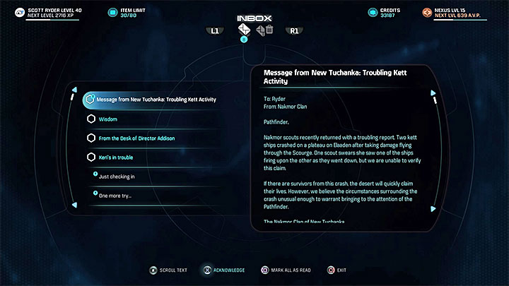 A heads-up from Nakmor Clan - Dissension in the Ranks | Allies and Relationships - Allies and Relationships quests - Mass Effect: Andromeda Game Guide