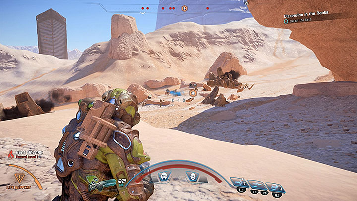 Youll need to make a tough climb - off-road mode is recommended - Dissension in the Ranks | Allies and Relationships - Allies and Relationships quests - Mass Effect: Andromeda Game Guide