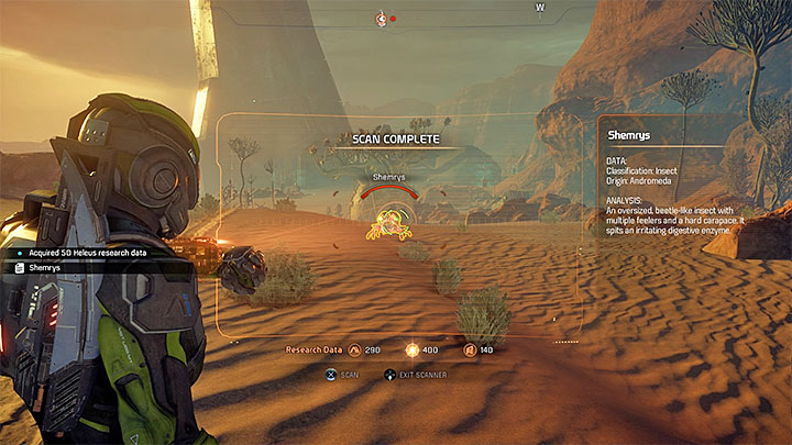 Scan the local flora and fauna during your exploration of Eos and other planets - Additional tasks | Nexus side quests - Nexus - Mass Effect: Andromeda Game Guide
