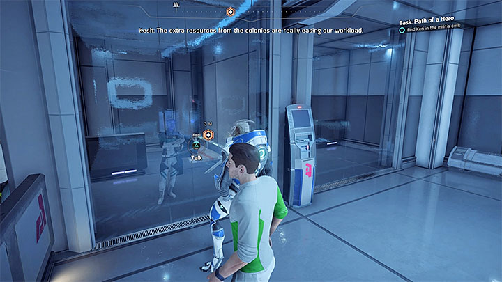Speak with Keris producer and with her - you can find her in the prison - Additional tasks | Nexus side quests - Nexus - Mass Effect: Andromeda Game Guide