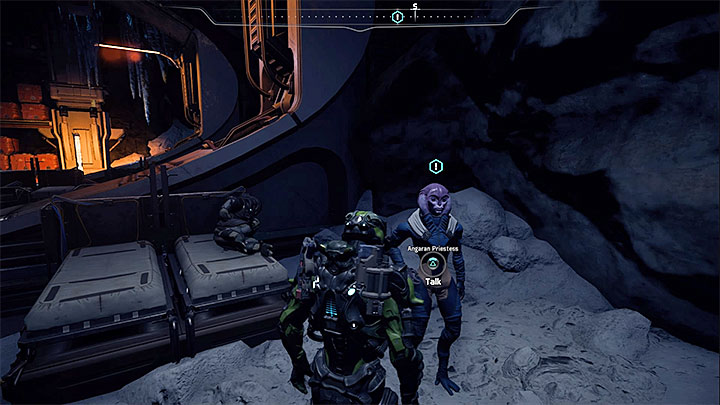 The priestess can be found in the resistances hideout - Reformation | Voeld side quests - Voeld - Mass Effect: Andromeda Game Guide