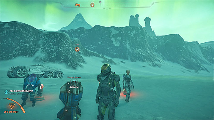 The optimal place for establishing an outpost is marked on the map of Voeld - Settling Voeld | Voeld side quests - Voeld - Mass Effect: Andromeda Game Guide
