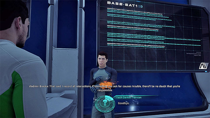 Vladimir is in charge of the cryo pods - Additional tasks | Eos side quests - Eos - Mass Effect: Andromeda Game Guide