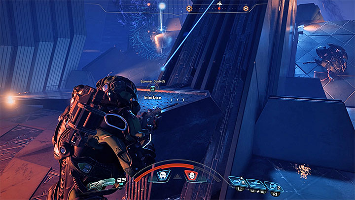 Use the console to summon a bot that will support you in combat - The Journey to Meridian | Priority Ops | Walkthrough - Priority Ops (Main quests) - Mass Effect: Andromeda Game Guide