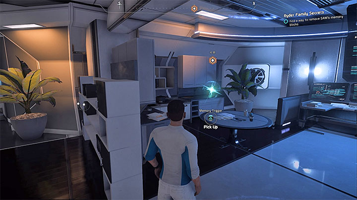 The first memory trigger is in Alec Ryders cabin - Ryder Family Secrets | Allies and Relationships - Allies and Relationships quests - Mass Effect: Andromeda Game Guide