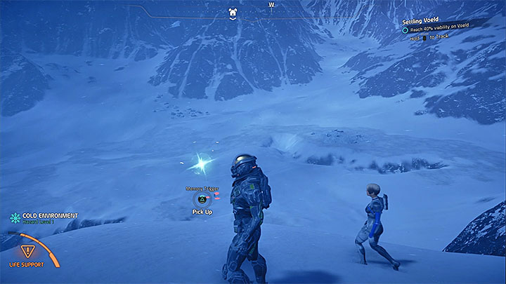 Check the hills near the place where you establish the outpost on Voeld - Ryder Family Secrets | Allies and Relationships - Allies and Relationships quests - Mass Effect: Andromeda Game Guide