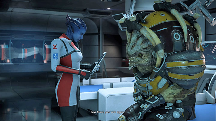 Speak with Drack and Lexi in med bay - Nakmor Drack: Other quests | Allies and Relationships - Allies and Relationships quests - Mass Effect: Andromeda Game Guide