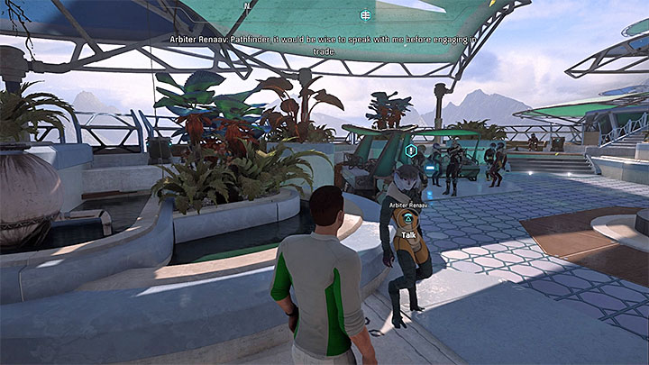 Renaav can be found in the marketplace near merchants booths - Additional tasks | Aya side quests - Aya - Mass Effect: Andromeda Game Guide