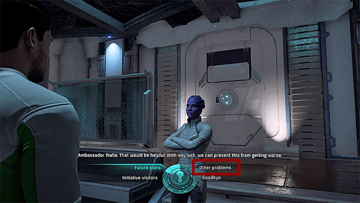 Speak about other problems - Additional tasks | Aya side quests - Aya - Mass Effect: Andromeda Game Guide