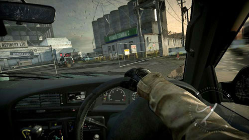 At the beginning, when going out of the port will not be difficult because of the wide roads and no barriers - Mission 04: Hot Pursuit - Campaign - Medal of Honor: Warfighter - Game Guide and Walkthrough