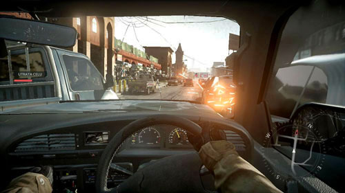 Slow down and just start moving cars by entering between them (see picture above) - Mission 04: Hot Pursuit - Campaign - Medal of Honor: Warfighter - Game Guide and Walkthrough