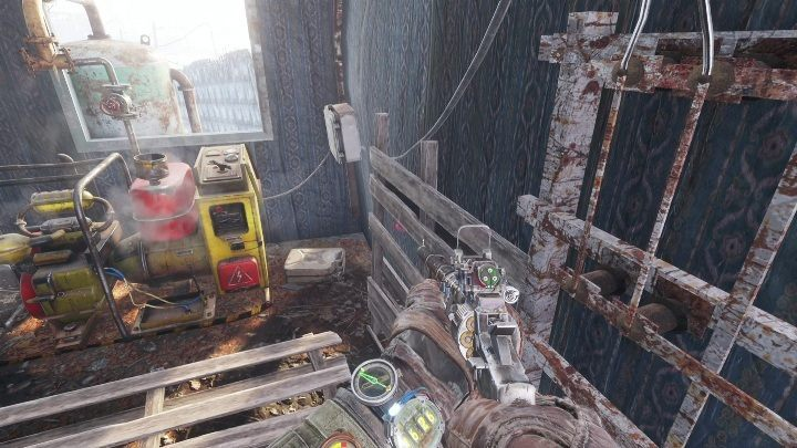 The small building has a machine that uses fuel - How to find the battery charge controller in Metro Exodus? - FAQ - Metro Exodus Guide