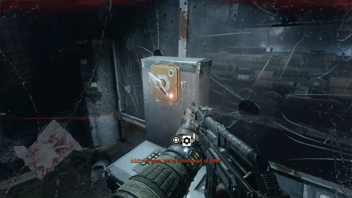 Use the switch at the top and then defend yourself against enemy attacks - Moscow - Inside the enemy base - Metro Exodus Walkthrough - Moscow - Metro Exodus Guide