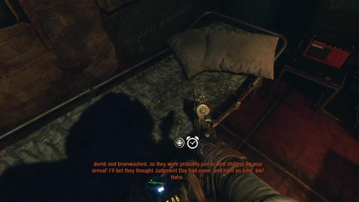 The time of day can be changed when your character is in a hiding place with a bed - How to change the time of day in Metro Exodus? - FAQ - Metro Exodus Guide