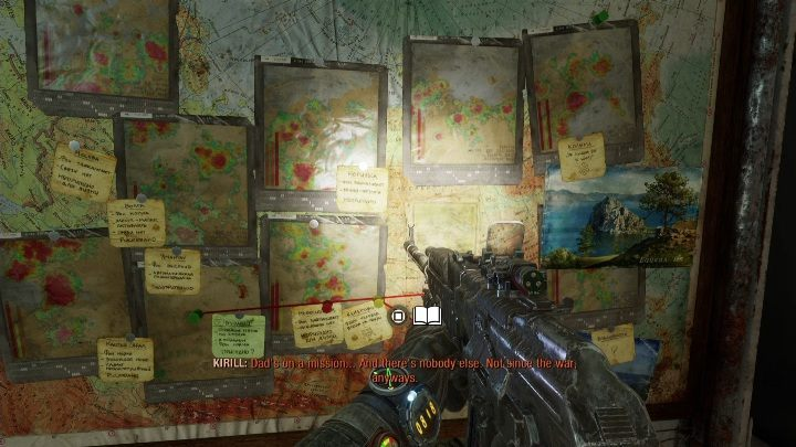 Location: The note is among the maps - Diaries and postcards in Autumn and the Dead City - Metro Exodus Collectibles - Diaries and postcards - Metro Exodus Guide