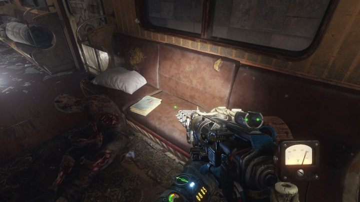 Location: The diary is on one of the sits in the abandoned train car - Diaries and postcards in Autumn and the Dead City - Metro Exodus Collectibles - Diaries and postcards - Metro Exodus Guide