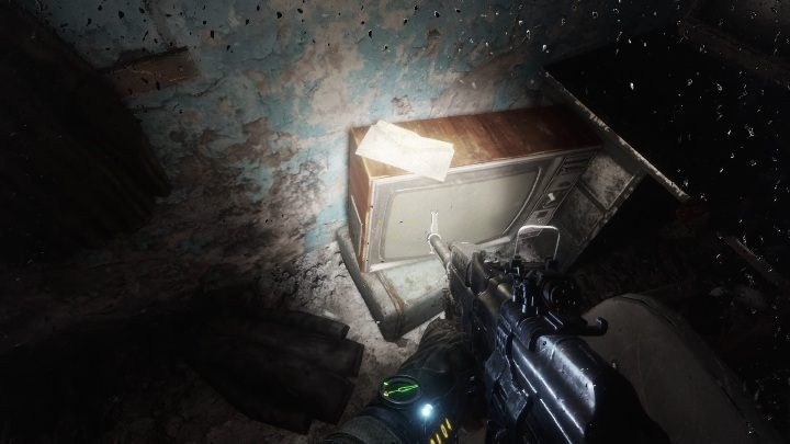 Location: This diary is lying on a TV standing next to the computer - Diaries and postcards in Autumn and the Dead City - Metro Exodus Collectibles - Diaries and postcards - Metro Exodus Guide