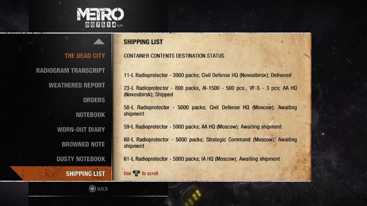 16 - Diaries and postcards in Autumn and the Dead City - Metro Exodus Collectibles - Diaries and postcards - Metro Exodus Guide