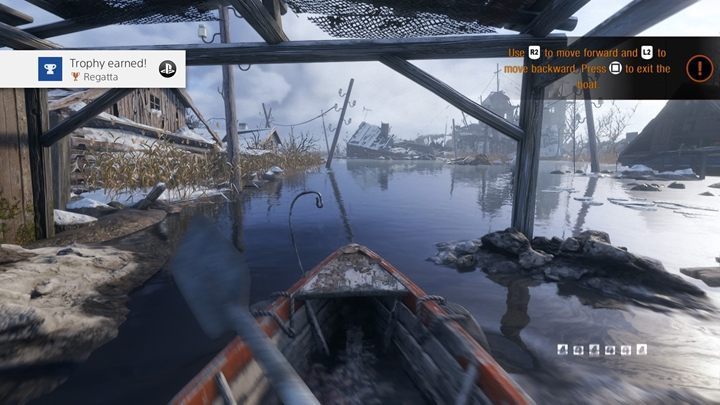 How to unlock: Get into a boat - List of all achievements and trophies in Metro Exodus - Achievements and trophies - Metro Exodus Guide