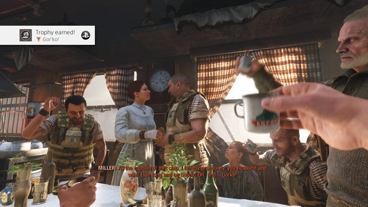 How to unlock: Attend the wedding on the Summer level - List of all achievements and trophies in Metro Exodus - Achievements and trophies - Metro Exodus Guide
