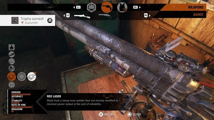 How to unlock: Install a modification of each category on a single weapon - List of all achievements and trophies in Metro Exodus - Achievements and trophies - Metro Exodus Guide