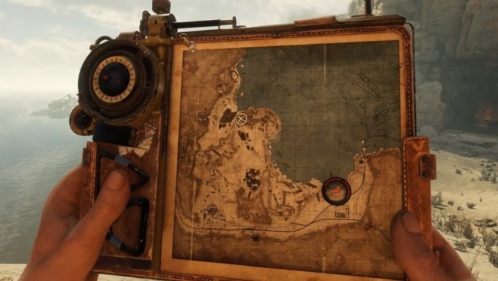 The Baron is in the eastern part of the map - this location is marked in the picture above - How to find the real Baron in the Caspian Sea of Metro Exodus? - FAQ - Metro Exodus Guide