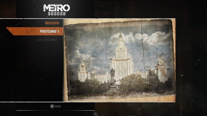 1 - Diaries and postcards in Moscow - Metro Exodus Collectibles - Diaries and postcards - Metro Exodus Guide