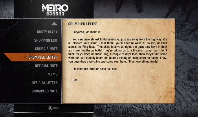 13 - Diaries and postcards in Moscow - Metro Exodus Collectibles - Diaries and postcards - Metro Exodus Guide