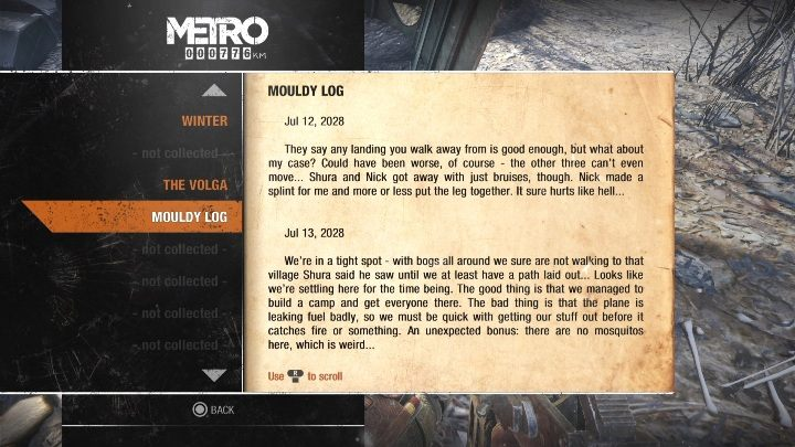 10 - Diaries and postcards in Winter and The Volga - Metro Exodus Collectibles - Diaries and postcards - Metro Exodus Guide