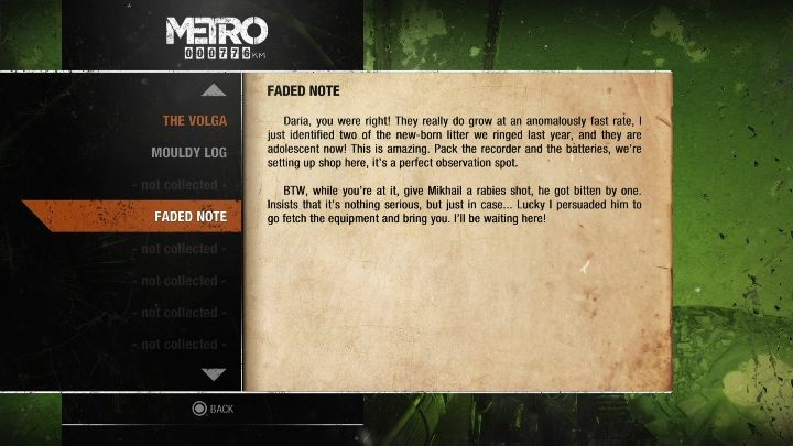 12 - Diaries and postcards in Winter and The Volga - Metro Exodus Collectibles - Diaries and postcards - Metro Exodus Guide