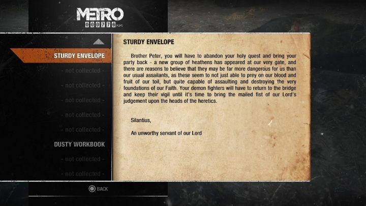 16 - Diaries and postcards in Winter and The Volga - Metro Exodus Collectibles - Diaries and postcards - Metro Exodus Guide