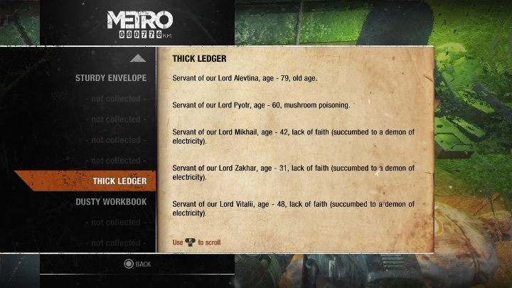 17 - Diaries and postcards in Winter and The Volga - Metro Exodus Collectibles - Diaries and postcards - Metro Exodus Guide