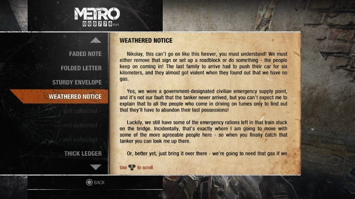 19 - Diaries and postcards in Winter and The Volga - Metro Exodus Collectibles - Diaries and postcards - Metro Exodus Guide