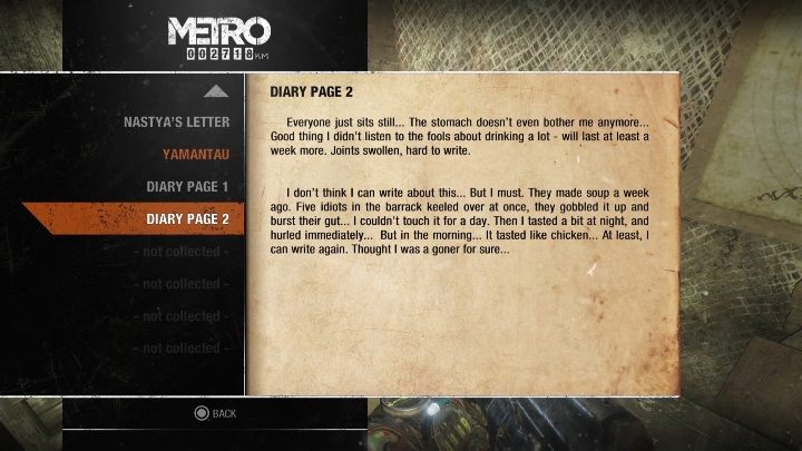 4 - Diaries and postcards in Spring and Yamantau - Metro Exodus Collectibles - Diaries and postcards - Metro Exodus Guide
