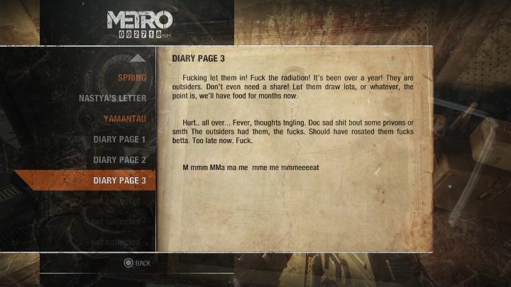 6 - Diaries and postcards in Spring and Yamantau - Metro Exodus Collectibles - Diaries and postcards - Metro Exodus Guide