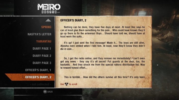 10 - Diaries and postcards in Spring and Yamantau - Metro Exodus Collectibles - Diaries and postcards - Metro Exodus Guide