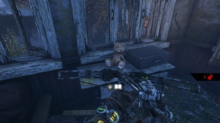 Location: The note lies on a desk with a teddy bear - you will find it in one of the buildings - Diaries and postcards in Taiga - Metro Exodus Collectibles - Diaries and postcards - Metro Exodus Guide