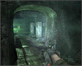 Walkthrough: Drop down to the train tracks and start moving forward - Walkthrough - Lost Tunnel - Chapter 2 - Metro 2033 - Game Guide and Walkthrough
